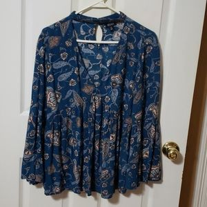 A.N.A. Choker floral empire Blouse blue